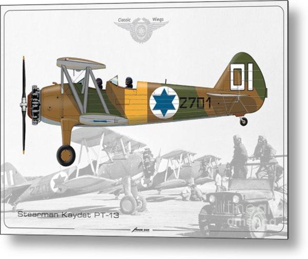 Israeli Air Force Stearman Kaydet Pt-13 Metal Print