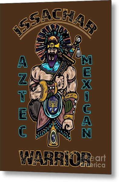 Issachar Aztec Warrior Metal Print