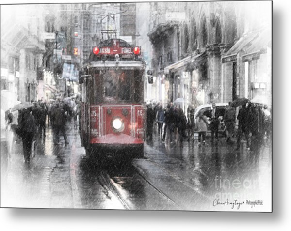 Istambool Historic Tram Metal Print