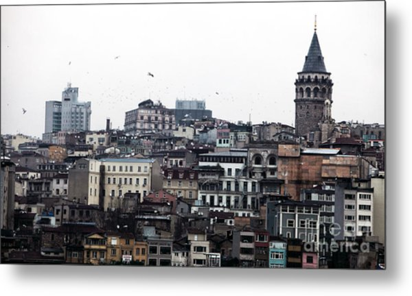 Istanbul Buildings Metal Print by John Rizzuto
