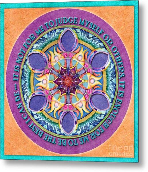 It Is Enough Mandala Prayer Metal Print