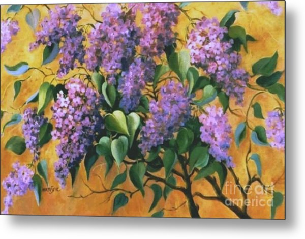 It Is Lilac Time 2 Metal Print by Marta Styk