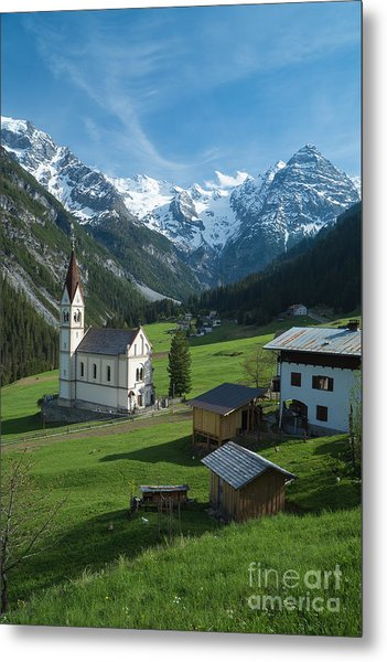 Italian Alps Hidden Treasure Metal Print