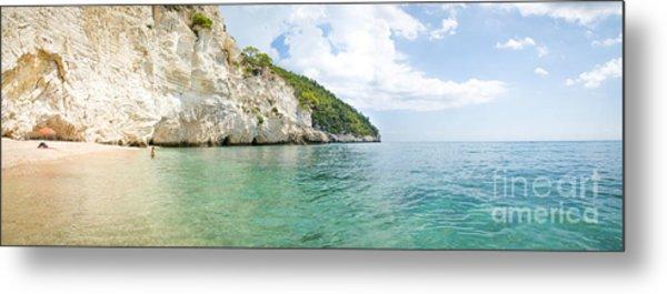 italian beaches - Zagare Bay - Vieste - Gargano - Puglia - panoramic Metal Print