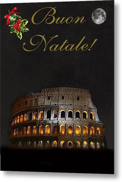 Italian Christmas Card Rome Metal Print