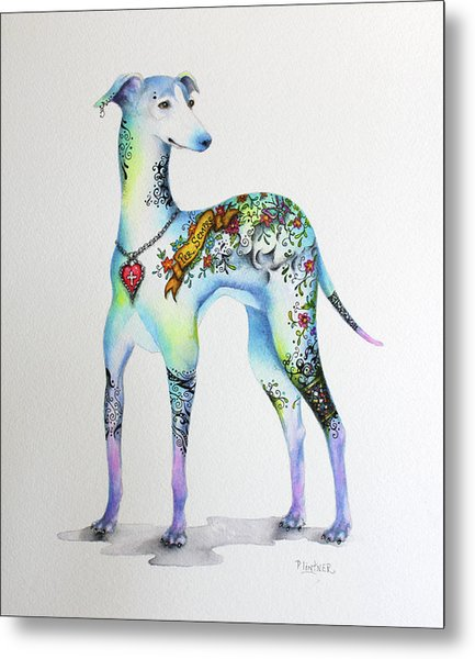 Italian Greyhound Tattoo Dog Metal Print