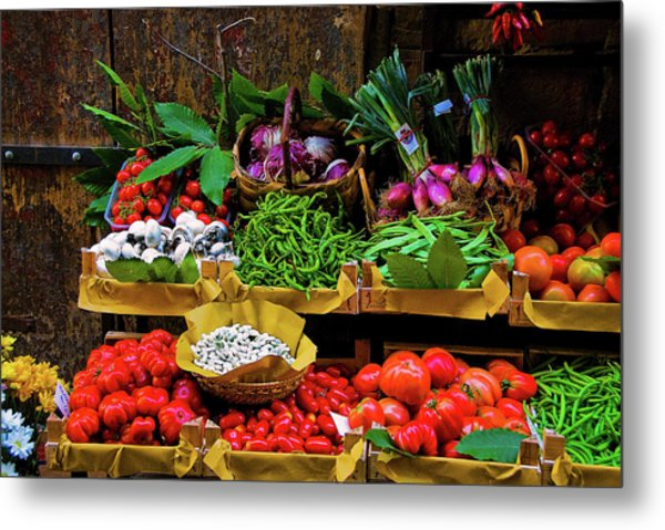 Italian Vegetables  Metal Print