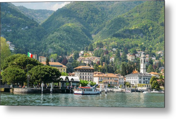 Italian Village On Lake Como Metal Print