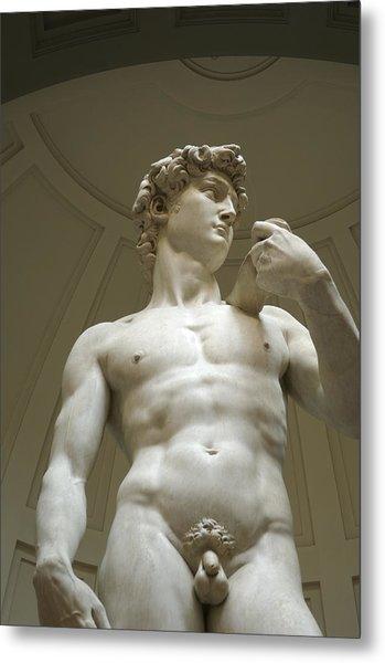 Italy, Florence, Statue Of David Metal Print