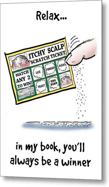 Itchy Scalp Scratch Ticket Metal Print