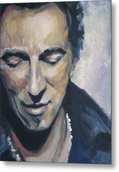 It's Boss Time II - Bruce Springsteen Portrait Metal Print