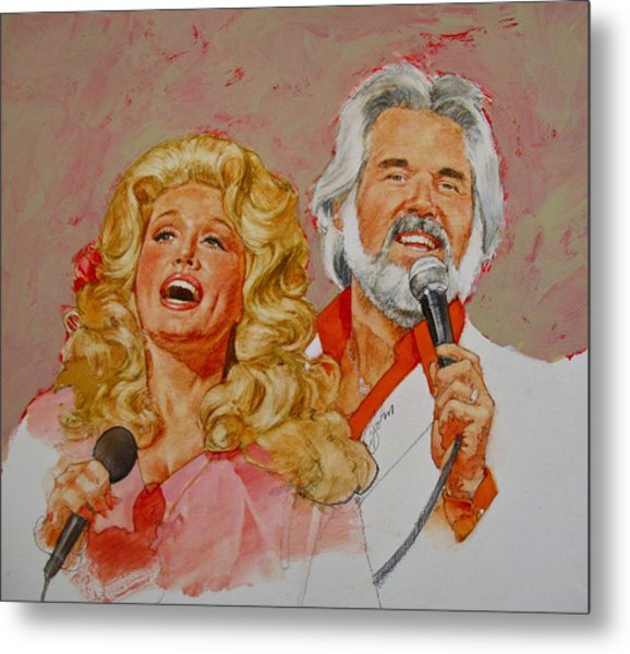 Its Country - 8  Dolly Parton Kenny Rogers Metal Print