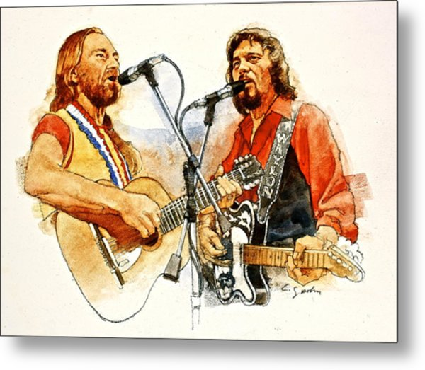 Its Country - 7  Waylon Jennings Willie Nelson Metal Print