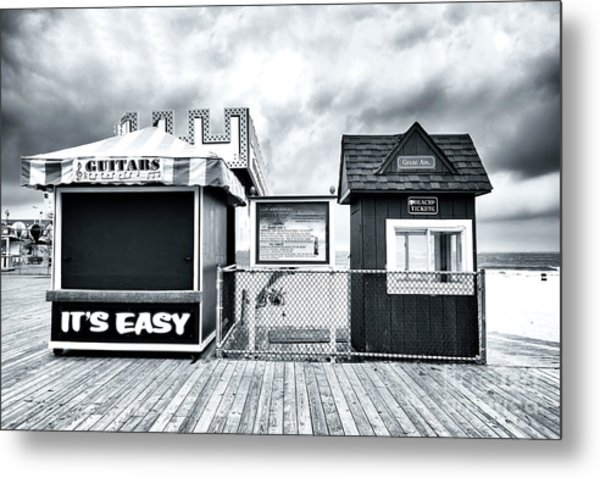 It's Easy On The Seaside Heights Boardwalk Metal Print