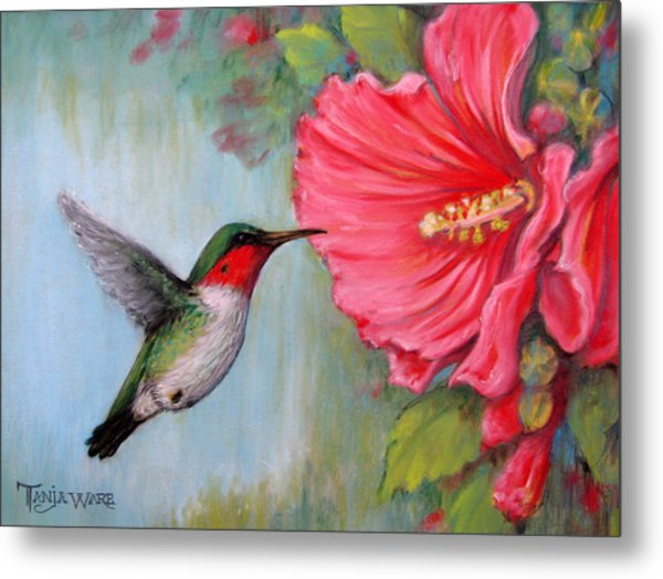It's Hummer Time Metal Print by Tanja Ware