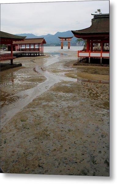 Itsukushima Shrine And Torii Gate Metal Print