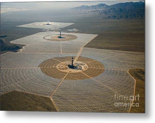Ivanpah Solar Power Plant Metal Print