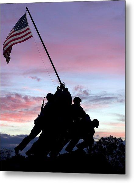Iwo Jima Memorial In Arlington Virginia Metal Print
