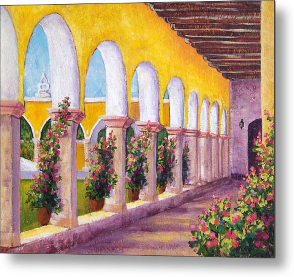 Izamal Arches Metal Print by Candy Mayer