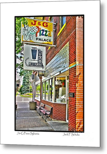 J And G Pizza Palace Metal Print
