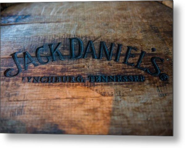 Jack Daniels Oak Barrel Metal Print