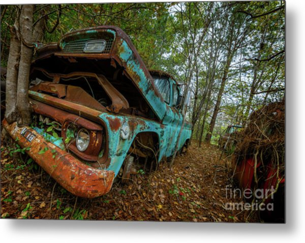 Jacked Up Gmc Metal Print