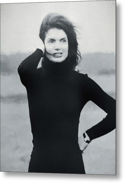 Jackie Kennedy - Painting Metal Print