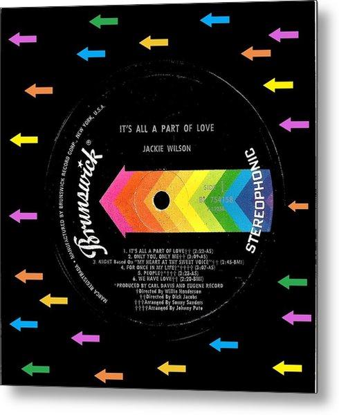 Jackie Wilson Brunswick Lp Label Metal Print