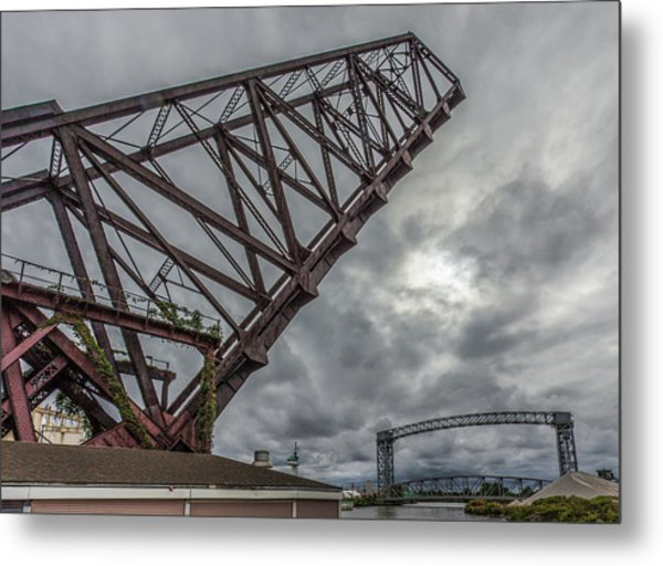 Jackknife Bridge To The Clouds Metal Print