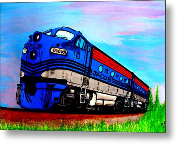 Jacob The Train Metal Print