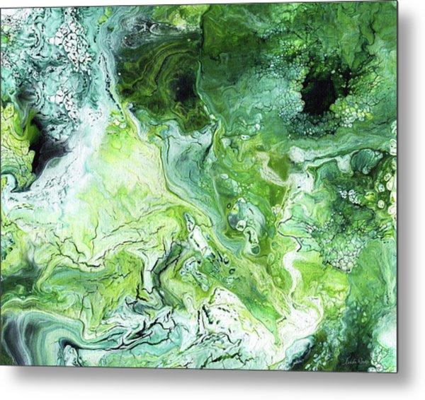Jade- Abstract Art By Linda Woods Metal Print
