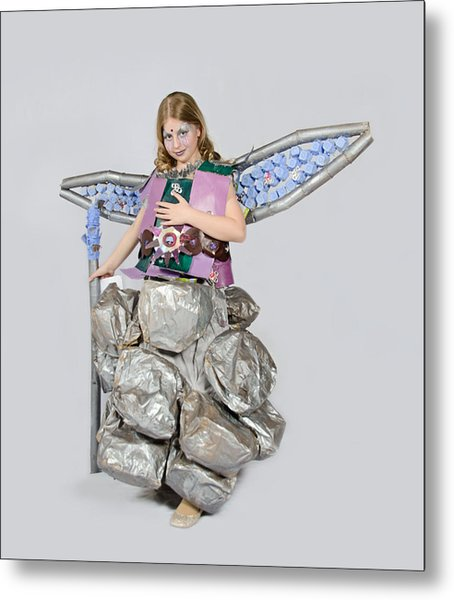 Jaeda In Techno Fairy Metal Print