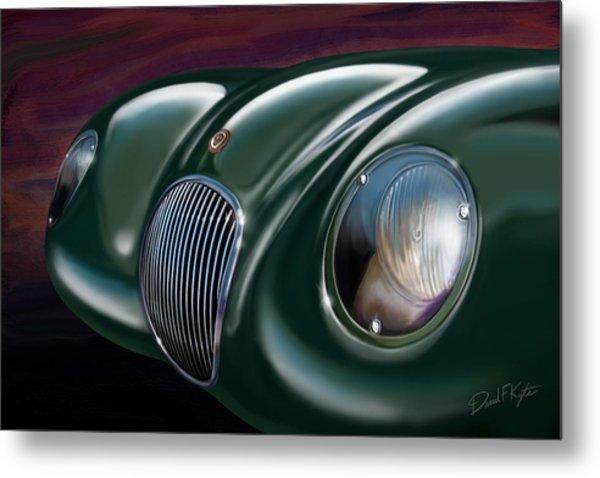 Jaguar C Type Metal Print by David Kyte