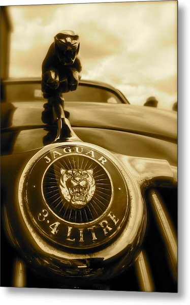 Jaguar Car Mascot Metal Print