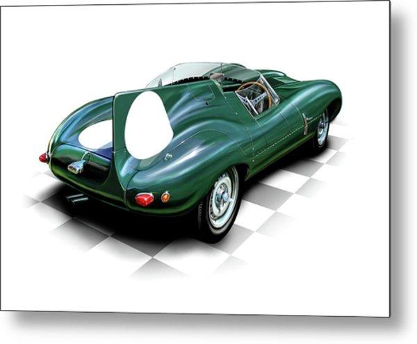 Jaguar D Type Metal Print by David Kyte