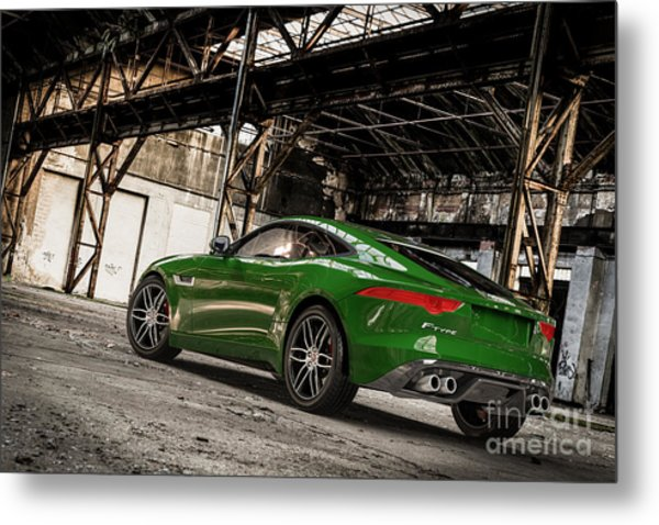 Jaguar F-type - British Racing Green - Rear View Metal Print