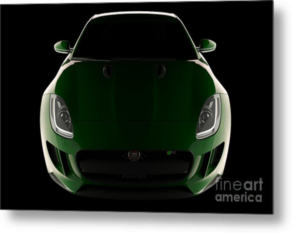 Jaguar F-type - Front View Metal Print