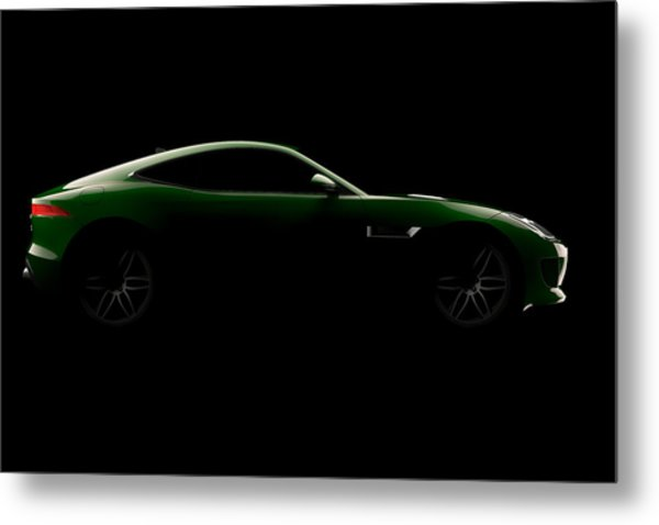 Jaguar F-type - Side View Metal Print
