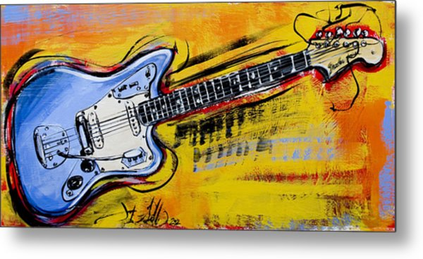 Jaguar Fender Guitar Metal Print