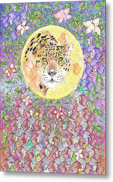 Jaguar Night Metal Print