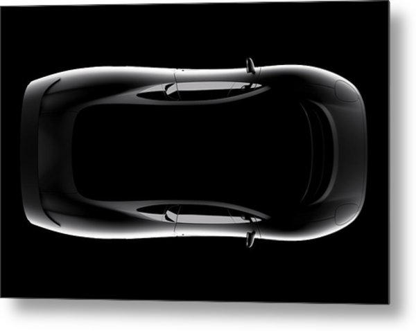 Jaguar Xj220 - Top View Metal Print
