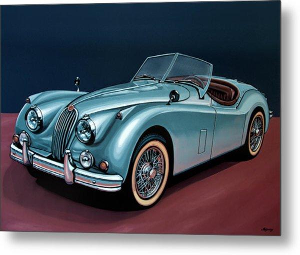 Jaguar Xk140 1954 Painting Metal Print