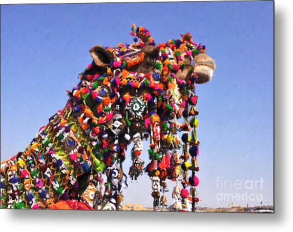 Jaisalmer Desert Festival-5 Metal Print