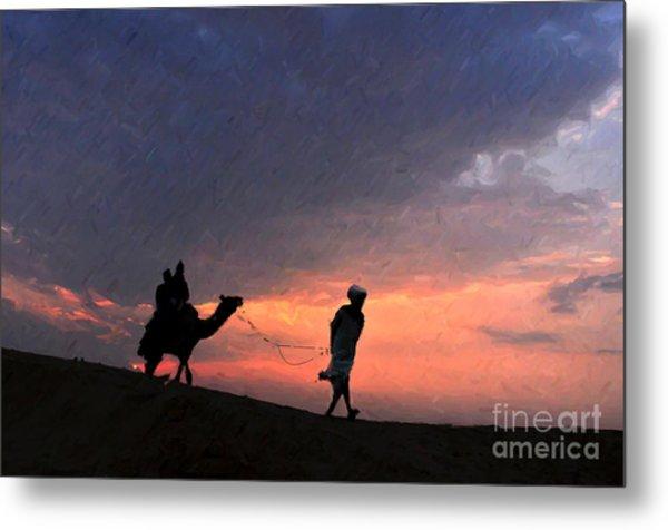 Jaisalmer Desert Festival-6 Metal Print