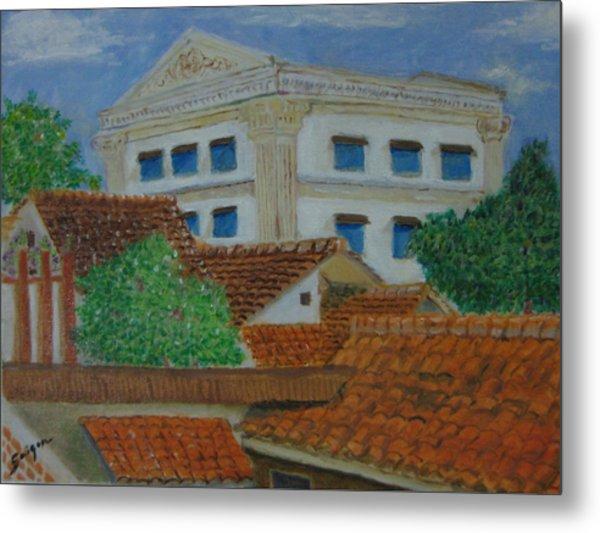 Jakarta Roofs Metal Print by SAIGON De Manila