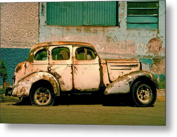 Metal Print featuring the photograph Jalopy by Skip Hunt