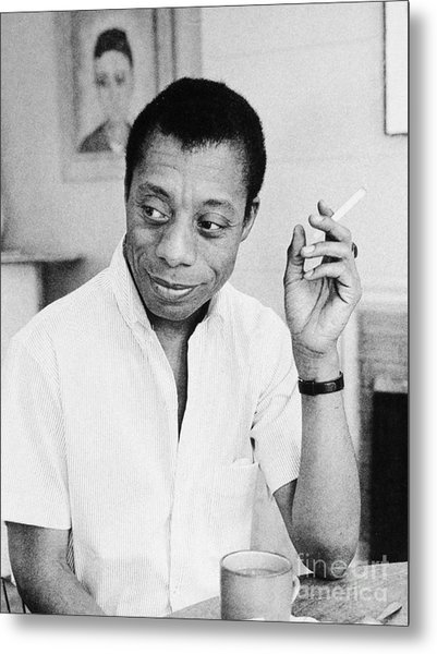 James Baldwin (1924-1987) Metal Print