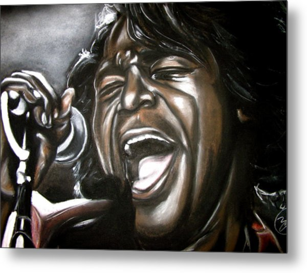James Brown Metal Print by Zach Zwagil