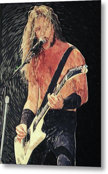 James Hetfield Metal Print