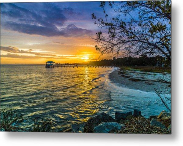James Island Sunrise - Melton Peter Demetre Park Metal Print